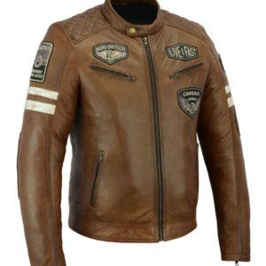 chaqueta de piel milano bstar moto